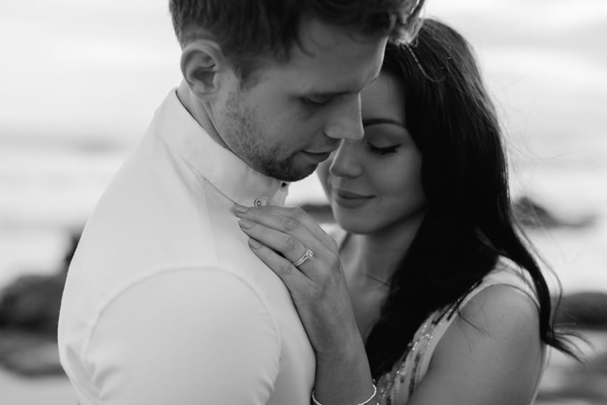 Portugal beach wedding engagement